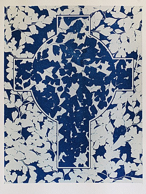Cyanotype of plan of nursery floor