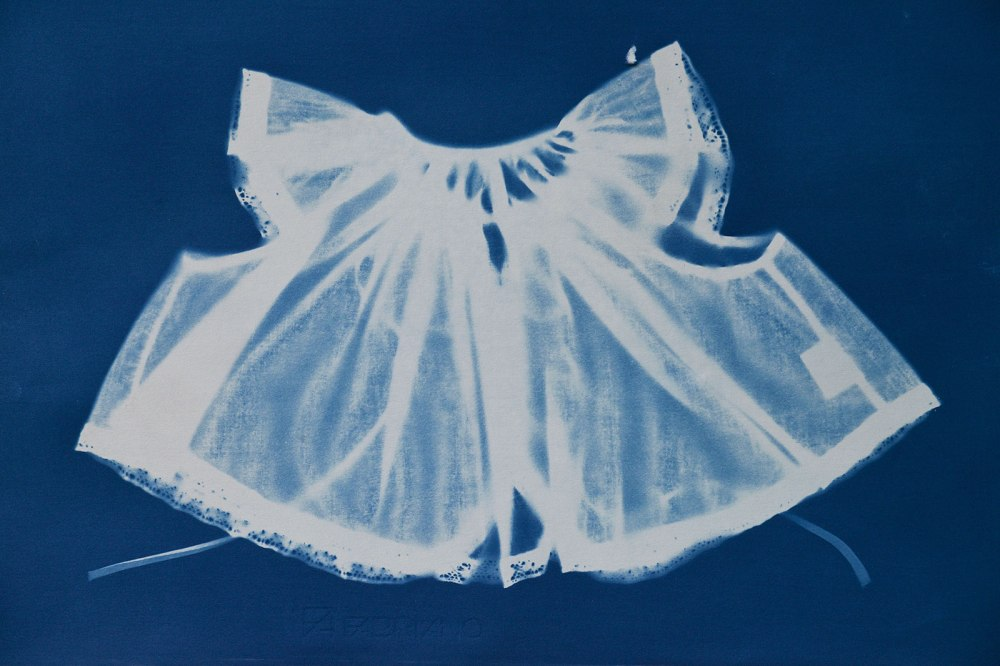 Cyanotype of baby's jacket